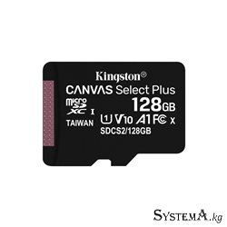 Secure Digital-micro Card Kingston 128GB uSD Select 80R C10 I ADPTR [SDCS2/128GB]