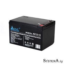 Батарея SVC 12В х 12Ач (AV 12-12), Черный