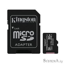 Secure Digital-micro Card Kingston 32GB uSD Select 80R C10 I ADPTR [SDCS2/32GB]