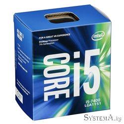 CPU Intel Core i5-7400 3.0-3.5GHz,6MB Cache L3,tray,Kabylake