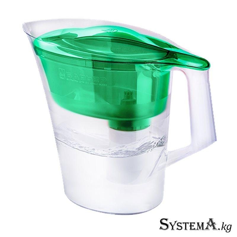 """Фильтр-кувшин для очистки воды """"БАРЬЕР Твист"""" зеленый (объем 4 л) 5шт. в уп."""