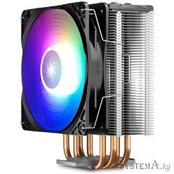 CPU cooler DEEPCOOL GAMMAXX GT A-RGB LGA775/1155/1156/1150/AMD 120 mm RGB PWM fan, 500-1500rpm,4HP