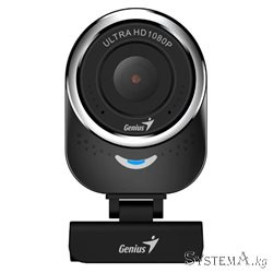 Веб-Камера Genius QCam 6000, USB 2.0, 1920 x 1080, 2.0Mpx, Микрофон, Крепление: зажим, Чёрный