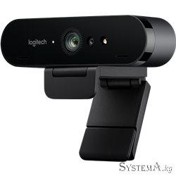 Веб камера Logitech BRIO 4K Pro, Ultra HD, 4096x2160, 90-30fps, RightLight 3, HDR, 90°, 5x Zoom, 2xMicrophone, USB 3.0, Black
