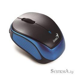 Genius Micro Traveler 9000R Wireless 2.4G BlueEye 1200dpi 3 btn Stick-N-Go  Black/Blue USB