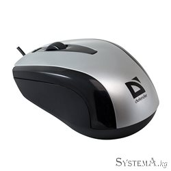 Mouse Defender Optimum MM-140, Grey, 800dpi, USB, 3btn, 1.5m