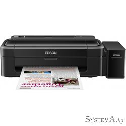 Принтер Epson L132 (A4, 27/15ppm Black/Color, 69sec/photo, 64-255g/m2, 5760x1440dpi, USB)