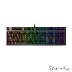 Клавиатура Rapoo V700RGB, Игровая, USB, Кол-во стандартных клавиш 87, Длина кабеля 1,8 метра, Анг, Чёрный