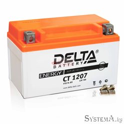 Аккумулятор Delta CT1207 12V 7Ah Стартерный