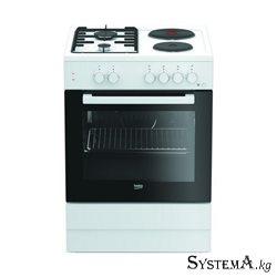 FSS 64010 DW (белый, 2х2, эл.духовка, гриль, элподжиг, газконтроль, 1 противень)