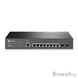 HUB Switch TP-Link T2500G-10TS (TL-SG3210), 8-port 10/100/1000 Mbit, 2SFP, 1mUSB, 1consolRJ45, rack mount