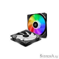 Cooler for PSU/CASE DEEPCOOL CF140(2 IN 1 SET) A-RGB,2x 140x140x26 PWM 500-1200RPM