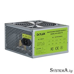 Power Unit DELUX DLP-23D 280W(330A)20+4PIN,2SATA,2*big 4pin,1*small 4pin,1*12CM fan,Without ON/OFF