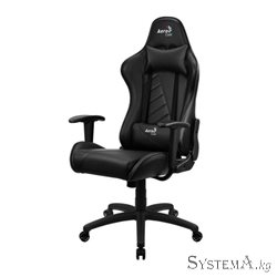 Gaming Chair AEROCOOL AC110 AIR BLACK 2D Armrest 65mm wheels PVC Leather