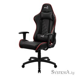 Gaming Chair AEROCOOL AC110 AIR BLACK&RED 2D Armrest 65mm wheels PVC Leather