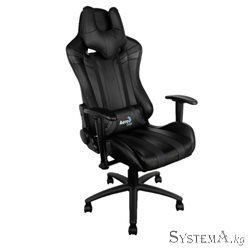 Gaming Chair AEROCOOL AC120 AIR BLACK 2D Armrest 65mm wheels PVC Leather