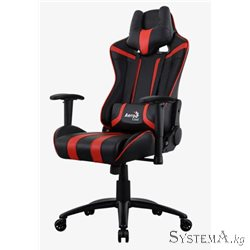 Gaming Chair AEROCOOL AC120 AIR BLACK&RED 2D Armrest 65mm wheels PVC Leather