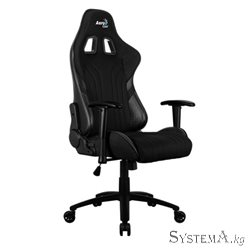 Gaming Chair AEROCOOL ALPHA 1 BLACK 2D Armrest 65mm wheels PVC Leather