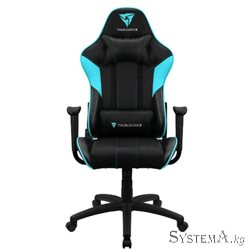 Gaming Chair ThunderX3 EC3 BLACK&CYAN 50mm wheels PVC Leather