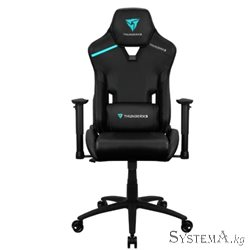 Gaming Chair ThunderX3 TC3 BLACK 2D Armrest 65mm wheels PVC Leather