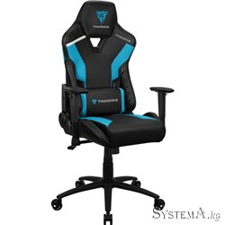 Gaming Chair ThunderX3 TC5 AZURE BLUE 3D Armrest 65mm wheels PVC Leather