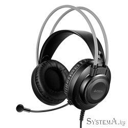 Наушники с микрофоном A4Tech FSTYLER FH200i 3.5mm BLACK/GREY