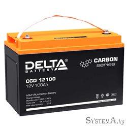 Аккумулятор Delta CGD12100 12V 100Ah (Carbon, UPS/Solar series)
