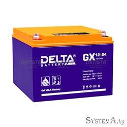 Аккумулятор Delta GX12-24 12V 24Ah