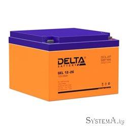 Аккумулятор Delta GEL12-26 12V 26Ah