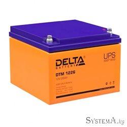 Аккумулятор Delta DTM1226 12V 26Ah