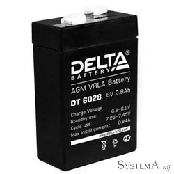 Аккумулятор Delta DT6028 6V 2.8Ah