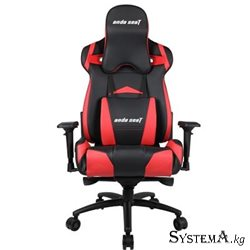 Gaming Chair AD3XL-01-BR-PV AndaSeat Extra Large BLACK&RED 4D Armrest 75mm wheels PVC-Leather