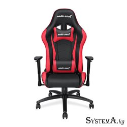 Gaming Chair AD5-01-BR-PV AndaSeat Axe Series BLACK&RED 2D Armrest 60mm wheels PVC-Leather
