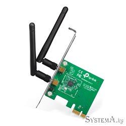 Сетевая карта Wi-Fi TP-LINK TL-WN881ND PCI-Ex1 300 Мбит/с (съёмные 2 антены)