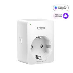 Умная розетка Wi-Fi  TP-LINK Tapo P100(1-PK) Bluetooth 4.2, Voice Control, Usage Time Tracking,  Amazon Alexa, Google Assistant