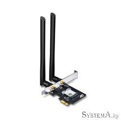 Адаптер Wi-Fi PCI TP-LINK Archer T5E AC1200 Dual-Band, 867Mb/s 5GHz+300Mb/s 2.4GHz, 2 антенны, Bluetooth 4.2/4.0, USB 2.0