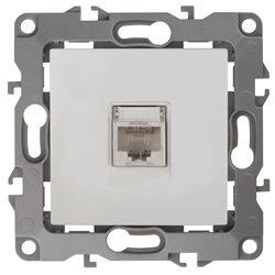 Розетка информационная ЭРА 12-3107-01  RJ45, белый