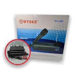 Микрофон Professional Wireless Microphone System  WG-005 (в комплекте 2шт бесп.мик+ресивер)