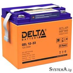 Аккумулятор Delta GEL 1233 12V 33Ah