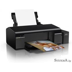 Принтер Epson L805 (A4, 37/38ppm Black/Color, 12sec/photo, 64-300g/m2, 5760x1440dpi, CD-printing, USB, Wi-Fi)