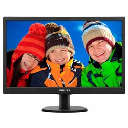 "PHILIPS 18,5"" 193V5LSB2,LED,BLACK 1366 x 768 16:9 HD 10000000:1   200cd/m2 5ms,VGA"