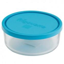 Стеклянный контейнер B388450 Bormioli Rocco  Frigoverre круглый d-18 см, 1250 мл, с синей крышкой Сделано в Италии