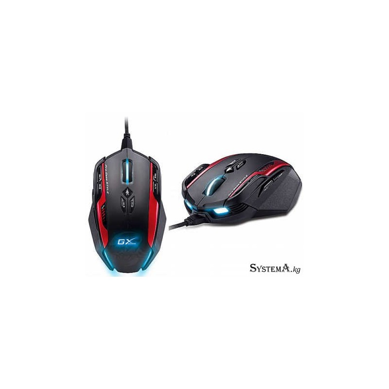 Genius  Gila 12-Button, 8200 dpi, Weight-in, memory, For MMO/RTS game