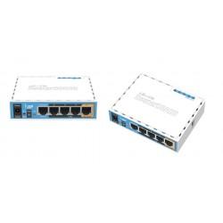 Роутер MikroTik hAP RB951Ui-2nD, Wi-Fi 2,4 ГГц, 802.11 b/g/n, 5 WAN/LAN 100 Мб, PoE, USB