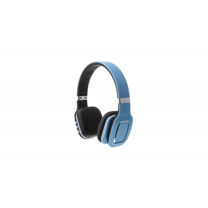 Наушники HARPER НВ-402 Blue  (Bluetooth4,0 + кабель, микрофон)
