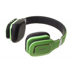 Наушники HARPER НВ-402 Green  (Bluetooth4,0 + кабель, микрофон)
