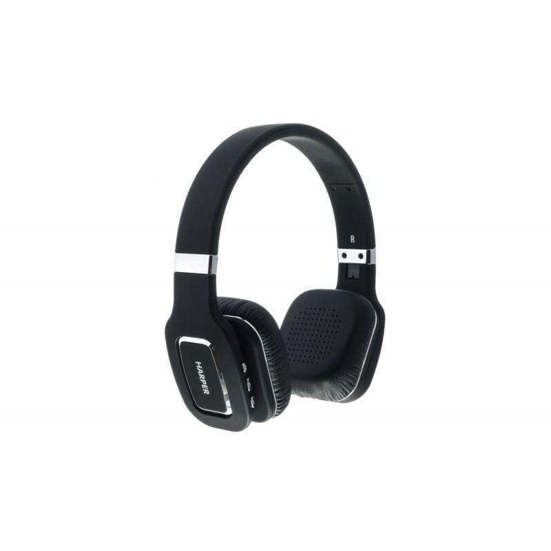Наушники HARPER НВ-402 Black (Bluetooth4,0 + кабель, микрофон)