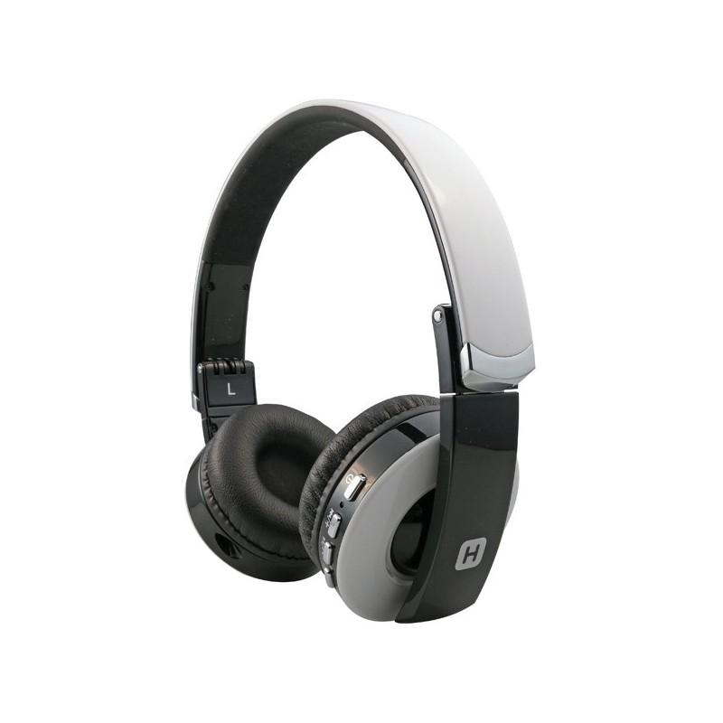 Наушники HARPER НВ-400 White  (Bluetooth4,0 + кабель, микрофон, регулировка громкости, складная конструкция)