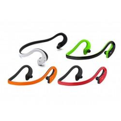 Наушники HARPER НВ-300 Ыack/gгeen (Bluetooth 4,0, до 10 м, микрофон, регулировка громкости, подходят для занятия спортом)