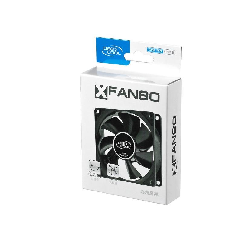 Cooler for PSU/CASE DEEPCOOL XFAN80 BLACK 80x80x25 mm